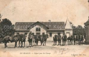 AK / Ansichtskarte Beville le Comte Depart pour les champs Beville le Comte