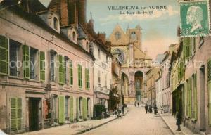 AK / Ansichtskarte Villeneuve sur Yonne Rue du Pont Eglise Villeneuve sur Yonne