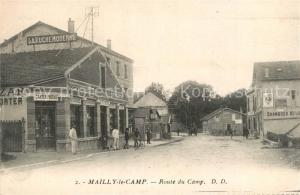 AK / Ansichtskarte Mailly le Camp Route du Camp Mailly le Camp