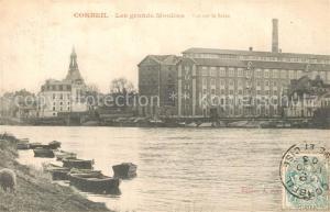 AK / Ansichtskarte Corbeil Essonnes Les grands moulins vue sur la Seine Corbeil Essonnes