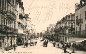 AK / Ansichtskarte Vichy_Allier Rue de Paris Vichy Allier