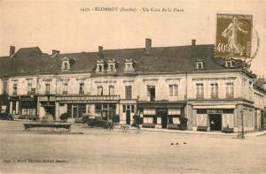 AK / Ansichtskarte Ecommoy Un coin de la Place Ecommoy