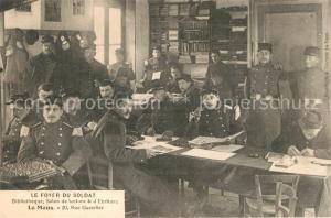 AK / Ansichtskarte Le_Mans_Sarthe Foyer du Soldat Bibliotheque Salon de lecture et d Ecriture Le_Mans_Sarthe