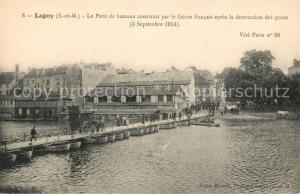 AK / Ansichtskarte Lagny sur Marne Pont de bateaux Lagny sur Marne