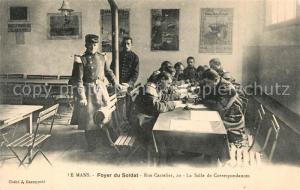 AK / Ansichtskarte Le_Mans_Sarthe Foyer du Soldat Salle de Correspondances Le_Mans_Sarthe