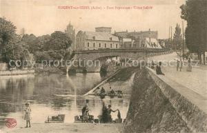 AK / Ansichtskarte Nogent sur Seine Pont Peyronnet Usine Leloir Nogent sur Seine