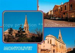 AK / Ansichtskarte Montolivet Eglise et rue principale Montolivet