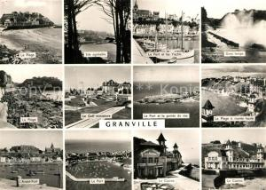 AK / Ansichtskarte Granville_Manche La Plage Avant Port Site agreable Le Port et les Yachts Gros temps Le Casino La Plage a maree haute Granville_Manche
