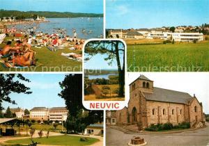 AK / Ansichtskarte Neuvic_Correze Les Bords du Lac Lycee agricole Puy de Manzagol Eglise Neuvic Correze
