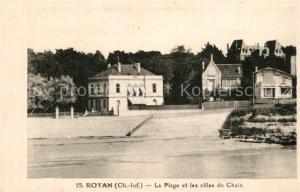 AK / Ansichtskarte Royan_Charente Maritime La Plage et les villas du Chaix Royan Charente Maritime