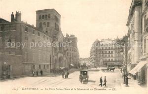 AK / Ansichtskarte Grenoble La Place Notre Dame Monument du Centenaire Grenoble