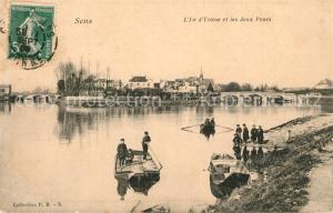 AK / Ansichtskarte Sens_Yonne Deux Ponts  Sens_Yonne