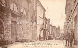 AK / Ansichtskarte Saint Emilion Fonderie de cloches rue Guadet Saint Emilion