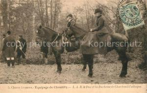 AK / Ansichtskarte Chantilly_Oise Chasse a courre Equipage