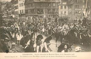 AK / Ansichtskarte Strasbourg_Alsace Genera son Etat Major Marechal Petain 25. Novembre 1918 Strasbourg Alsace