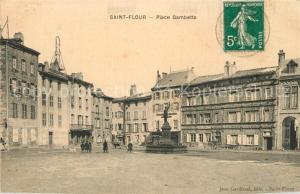 AK / Ansichtskarte Saint Flour_Cantal Place Gambetta Saint Flour Cantal