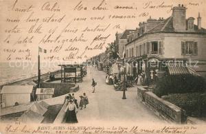 AK / Ansichtskarte Saint Aubin sur Mer_Calvados La Digue Saint Aubin sur Mer