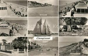 AK / Ansichtskarte Langrune sur Mer La Plage l'Heure du Bain La Promenade Le Camping Le Mairie La Plage a maree haute Langrune sur Mer