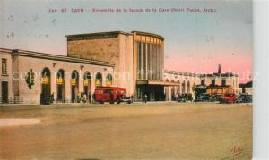 AK / Ansichtskarte Caen Ensemble de la facade de la Gare  Caen