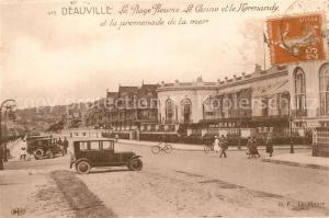 AK / Ansichtskarte Deauville La Plage Fleurie Le Casno et le Normandy et la promenade de la mer Deauville