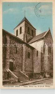 AK / Ansichtskarte Couleuvre Eglise datant des 12 15 Siecles Couleuvre