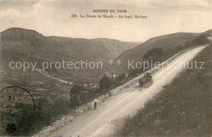 AK / Ansichtskarte Gorges_du_Tarn La Route de Mende Au fond Molines Gorges_du_Tarn