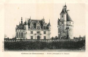 AK / Ansichtskarte Chenonceaux_Indre_et_Loire Chateau de Chenonceaux Entree principale et le Donjon Chenonceaux_Indre