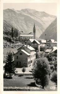AK / Ansichtskarte Orcieres_Hautes_Alpes Ecole et l Eglise Orcieres_Hautes_Alpes