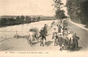 AK / Ansichtskarte Vichy_Allier Promenade sur les Bords de l Allier Vichy Allier