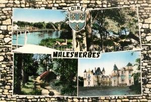AK / Ansichtskarte Malesherbes La Baignade Les Rochers Essonnes et le Lavoir le Chateau de Rouville Malesherbes