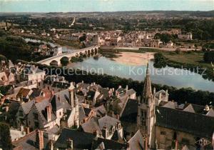 AK / Ansichtskarte Chinon_Indre_et_Loire Vallee de la Vienne et vue generale aerienne Chinon_Indre_et_Loire
