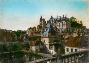 AK / Ansichtskarte Loches_Indre_et_Loire La porte des Cordeliers et le chateau royal Loches_Indre_et_Loire