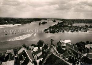 AK / Ansichtskarte Candes Saint Martin Le confluent de la Vienne et la Loire Candes Saint Martin