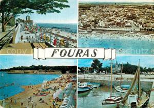 AK / Ansichtskarte Fouras_Charente Maritime La Plage et le Semaphore Vue generale aerienne La Piscine Le Port Fouras Charente Maritime