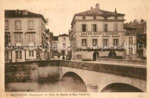 AK / Ansichtskarte Brantome Pont de Barris Rue Gambetta Brantome