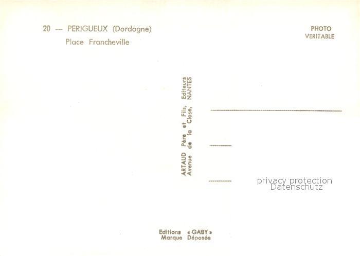 AK / Ansichtskarte Perigueux Place Francheville Perigueux 1