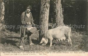 AK / Ansichtskarte Perigord La Truie vient de trouver une truffe Porc Perigord