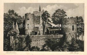 AK / Ansichtskarte Fuerstenstein_Schlesien Alte Burg Fuerstenstein_Schlesien