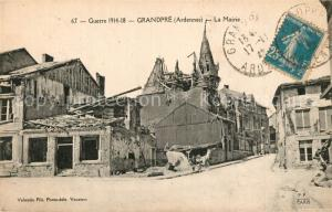 AK / Ansichtskarte Grandpre La Mairie Ruines Grande Guerre 1914 18 Truemmer 1. Weltkrieg Grandpre