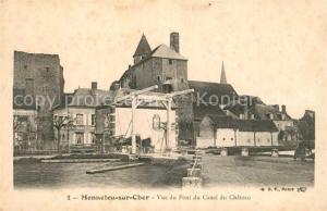 AK / Ansichtskarte Mennetou sur Cher Vue du Pont du Canal du Chateau Mennetou sur Cher