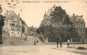 AK / Ansichtskarte Rethel_Ardennes Les Marches et Palais de Justice Rethel Ardennes