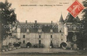 AK / Ansichtskarte Bresse sur Grosne Cour d'Honneur du Chateau Bresse sur Grosne