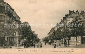 AK / Ansichtskarte Chalon sur Saone Boulevard de la Republique Chalon sur Saone