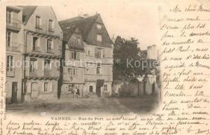 AK / Ansichtskarte Vannes Rue du Port Vannes