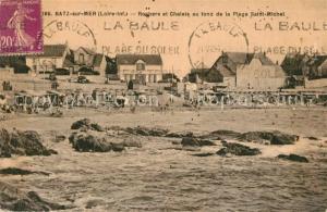 AK / Ansichtskarte Batz sur Mer Rochers et Chalets au fond de la Plage Saint Michel Batz sur Mer