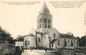 AK / Ansichtskarte Varenne l_Arconce Eglise de St Pierre es liens Ancienne dependance du Prieure de Marcigny Varenne l Arconce