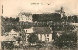 AK / Ansichtskarte Montataire Chateau et Eglise Montataire