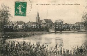 AK / Ansichtskarte Champrond en Gatine Vue generale et l Etang Champrond en Gatine