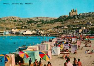 AK / Ansichtskarte Malta Ghadira Bay Mellieha Malta