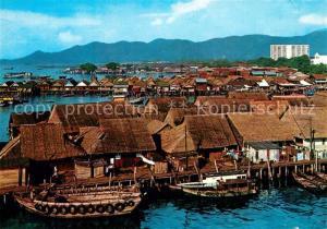 AK / Ansichtskarte Penang Fliegeraufnahme Stilt Houses Penang